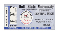 1977 Ball State Cardinals vs. Central Michigan Chippewas Picture Frame print