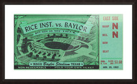 1952 Rice Owls vs. Baylor Bears Picture Frame print