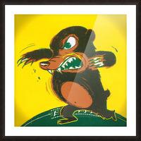 1957 Baylor Bear Football Art Remix Picture Frame print