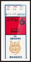1981 Arizona Wildcats vs. UTEP Miners Picture Frame print