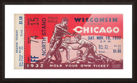 1932 Wisconsin Badgers vs. Chicago Maroons Picture Frame print