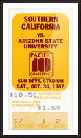1982 USC vs. Arizona State Football Ticket Art Picture Frame print
