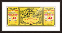1959 Army vs. Air Force Football Ticket Art Picture Frame print