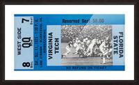 1975 Virginia Tech Gobblers vs. Florida State Seminoles Picture Frame print