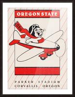 1985 Oregon State Beaver Football Ticket Stub Remix Art Picture Frame print