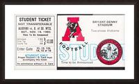 1985 Alabama Crimson Tide vs. Southern Miss Golden Eagles Picture Frame print