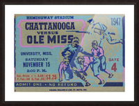 1947 Ole Miss Rebels vs. Chattanooga Picture Frame print