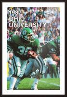 1987 Ohio Bobcats Retro Football Poster Picture Frame print