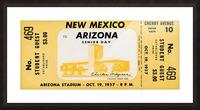 1957 Arizona Wildcats vs. New Mexico Lobos Picture Frame print