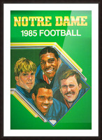 1985 Notre Dame Retro Football Poster Picture Frame print