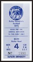 1975 Butler Bulldogs vs. DePauw Picture Frame print