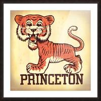 Vintage Fifties Princeton Tiger Remix Art Picture Frame print