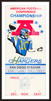 1981 Oakland Raiders vs. San Diego Chargers  Picture Frame print