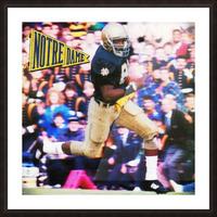 Retro Notre Dame Tim Brown Football Art Picture Frame print
