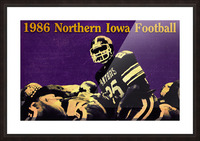 1986 Northern Iowa Panthers Football Poster Picture Frame print