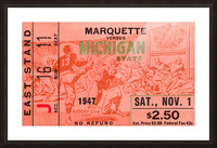 1947 Michigan State Spartans vs. Marquette Hilltoppers  Picture Frame print