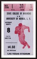 1973 UNLV Rebels vs. Central Arkansas Bears Football Ticket Art Picture Frame print
