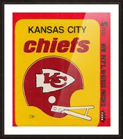 1980 Kansas City Chiefs Fleer Decal Art Picture Frame print