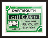 1933 Dartmouth Indians vs. Chicago Maroons Picture Frame print