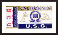 1967 California Bears vs. USC Trojans Picture Frame print