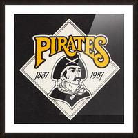 1988 Pittsburgh Pirates Retro Art Picture Frame print