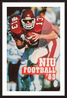 1983 Northern Illinois Huskies Football Poster Picture Frame print