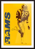 1986 LA Rams Football Art Picture Frame print