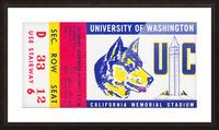 1951 California Bears vs. Washington Huskies Picture Frame print
