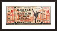 1946 Colorado College Tigers  vs. Colorado A&M Aggies Picture Frame print