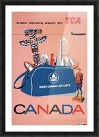 Vintage Toronto travel poster Picture Frame print