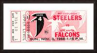 1968 Atlanta Falcons vs. Pittsburgh Steelers Ticket Art Picture Frame print