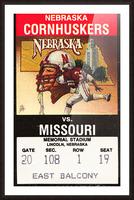 1988 Nebraska Cornhuskers vs. Missouri Tigers Picture Frame print