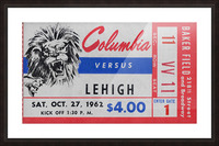 1962 Columbia Lions vs. Lehigh Engineers Picture Frame print