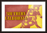 1936 Southern California Football Ticket Remix Picture Frame print