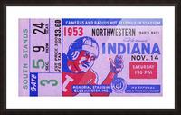 1953 Indiana Hoosiers vs. Northwestern Wildcats Picture Frame print
