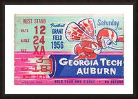 1956 Georgia Tech vs. Auburn Football Ticket Stub Art Picture Frame print