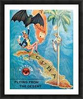 Visit Cupa vintage travel poster Picture Frame print