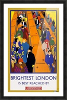 Brightest London travel poster Picture Frame print