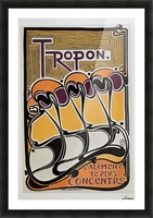 Vintage poster for Tropon food concentrate, 1899 Picture Frame print