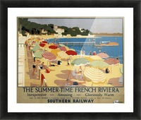 The Summertime French Riviera Southern Railway travel poster Picture Frame print