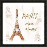 Paris mon amour Picture Frame print