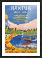 Vintage French Travel Poster for Nantua Picture Frame print