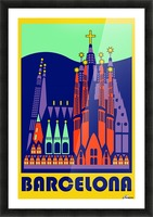 Barcelona travel poster Picture Frame print