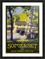 Great Western Railway Somerset travel poster Picture Frame print