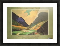 Southern Ireland Great Western Railway 1931 Vintage Travel Poster Picture Frame print