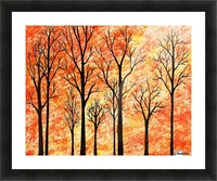 Autumn Forest Abstract  Picture Frame print