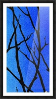 Ultramarine Forest Winter Blues III Picture Frame print