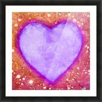 Vibrant Love Digital Art Collage Picture Frame print