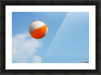 Beach ball on top of cloud Picture Frame print