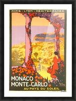 Monaco Monte Carlo 1920 vintage poster Picture Frame print